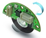 Example of absolute magnetic encoder internal components